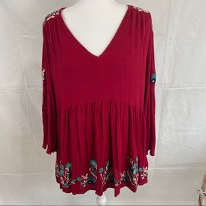 Altar'd State Red Floral Dress Size Small